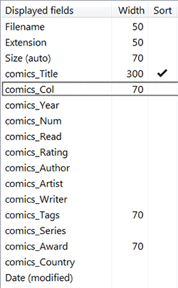 comics view in Directory Opus