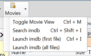 movie button on file manager