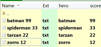 Regex columns