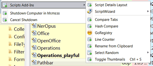 opus script add-ins
