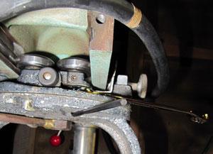 bearing adjustment on dewalt 1030 radial arm saw